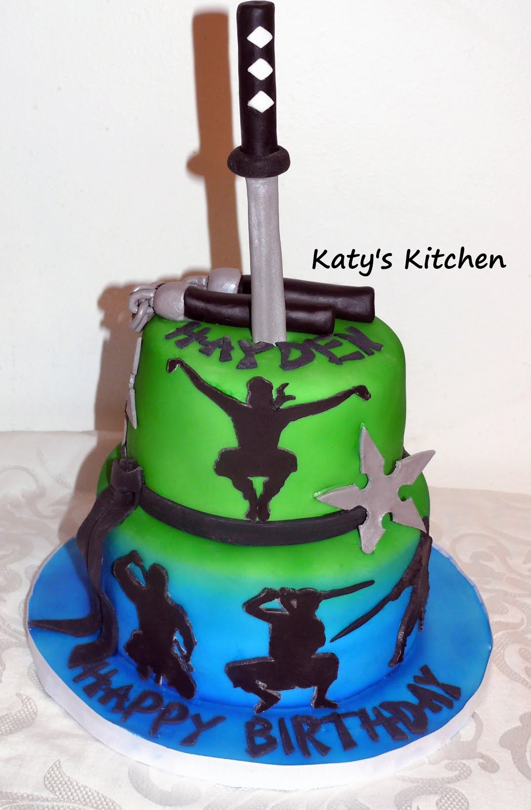 Katy's Kitchen: Ninja Birthday Cake