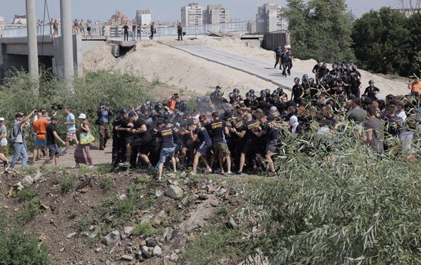 У Києві відбулися сутички Нацкорпусу з поліцією