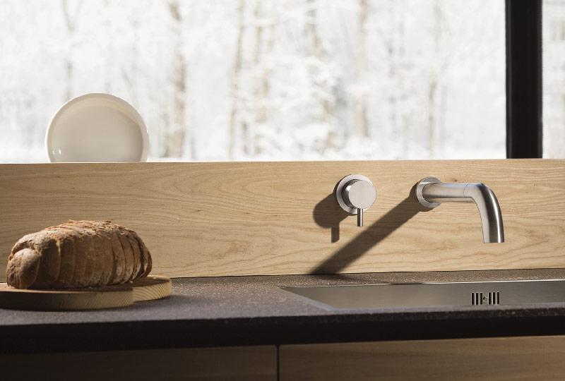 Miscelatore in acciaio inox da incasso per cucina e bagno