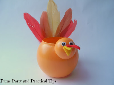 Turkey Votive made from  dollar store supplies