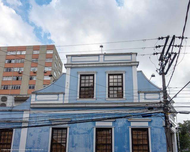Casa na Rua Trajano Reis, esquina com a Rua Paula Gomes - detalhe