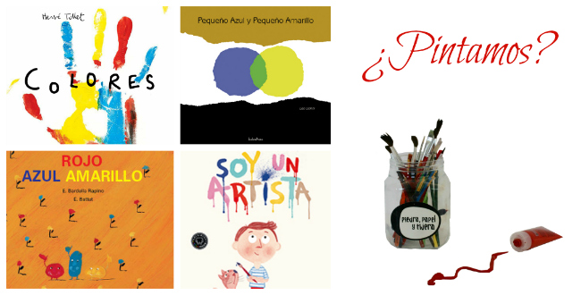 Libros infantiles pintar mezclar colores