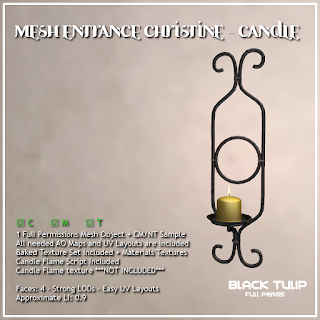 Mesh - Christine - Entrance Wall Candle