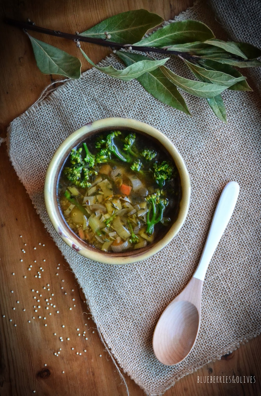 QUINOA, BIMI AND TARRAGON SOUP