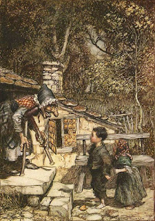 Hansel and Gretel illustration by Arthur Rackham