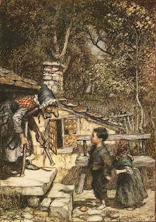 Hansel and Gretel illustration by Arthur Rackham