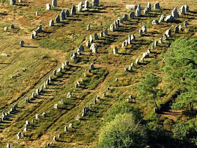 Menhires de Carnac. Construcción Megalítica