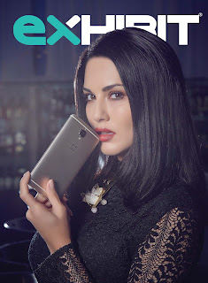 Sunny Leone awesome pics Promoting 1plus Mobile on Exhibit Magazine October 2016