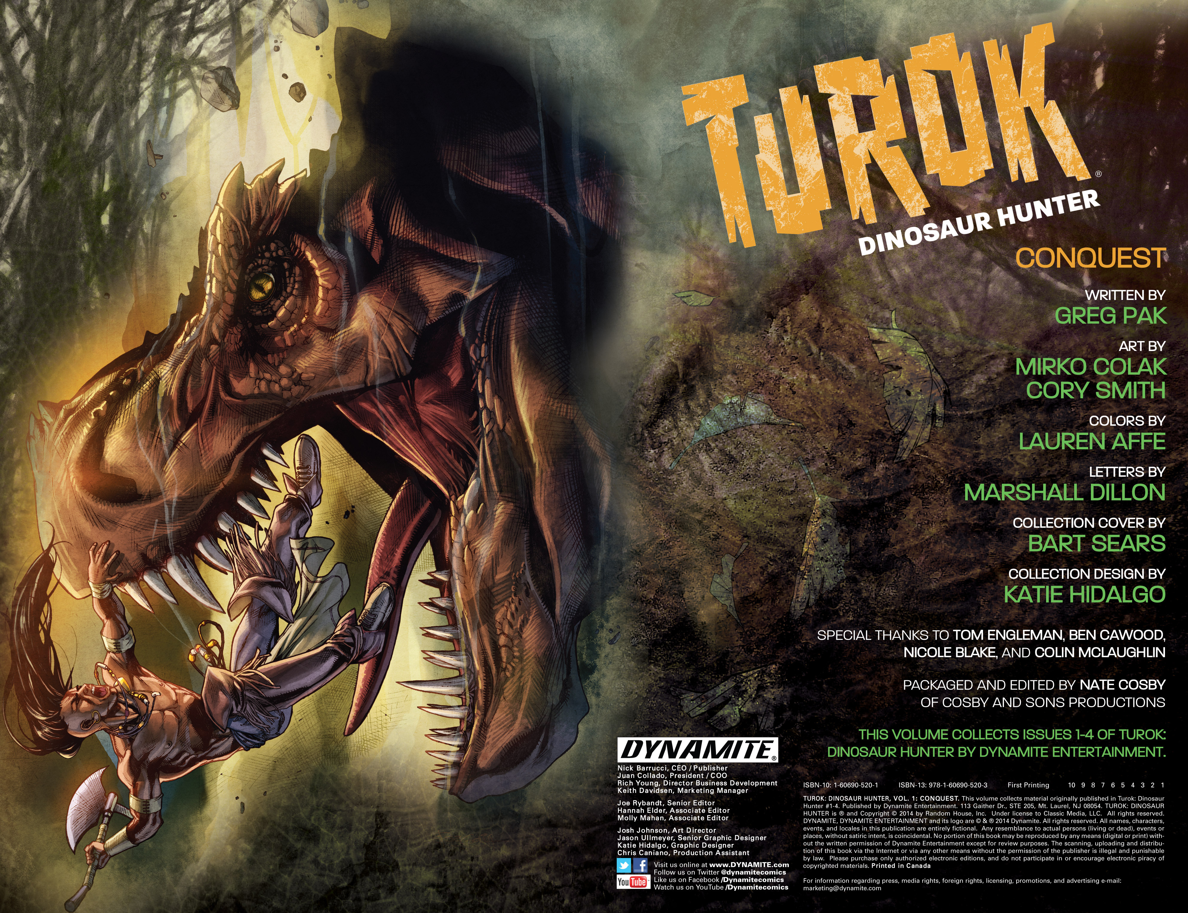 Read online Turok: Dinosaur Hunter (2014) comic -  Issue # _TPB 1 - 3