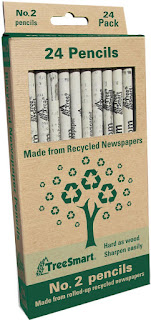 tree smart recycled paper pencils