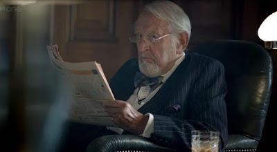 Douglas Wilmer in BBC Sherlock (2014) wearing the BSI Bowtie