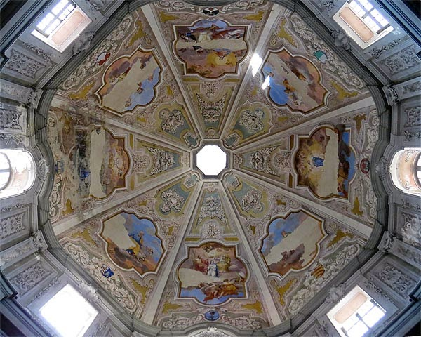 Frescoes on the interior of the dome of Santa Caterina, Livorno