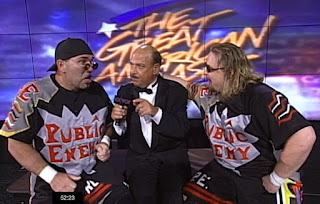 WCW Great American Bash 1997 - Mean Gene interviews The Public Enemy