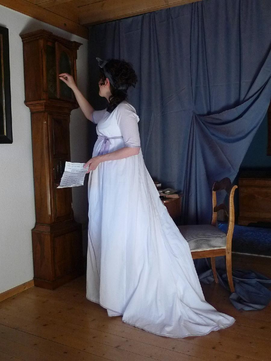 kleidung um 1800 1798 englisches chemisenkleid aus. Black Bedroom Furniture Sets. Home Design Ideas