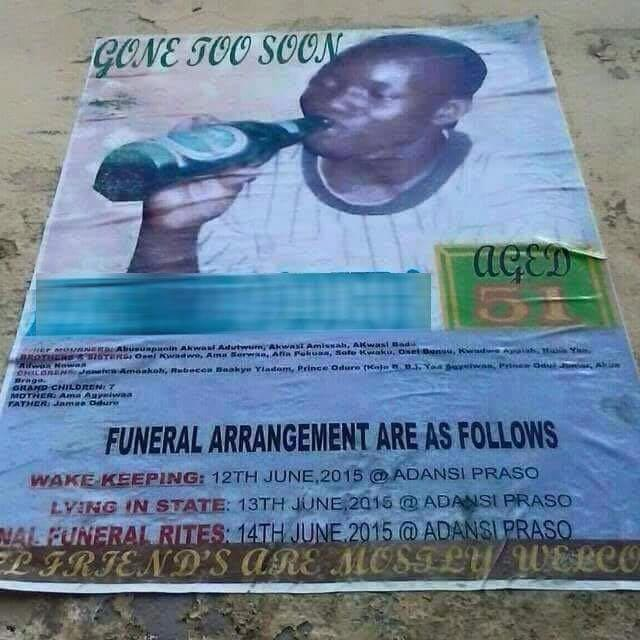 Just negodu the kind of image they used in this man's burial poster