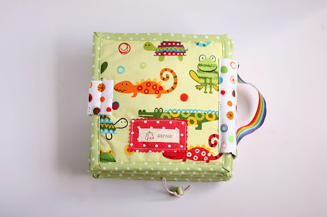 Handmade personalized  quiet book TomToy