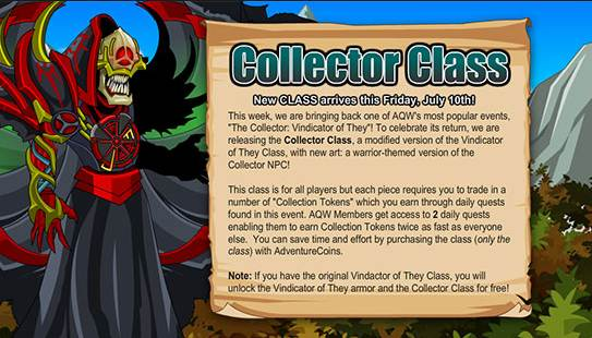 review the collector class aqw