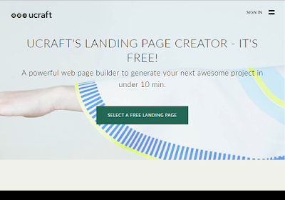 Ucraft offers tools to build a full website or landing pages