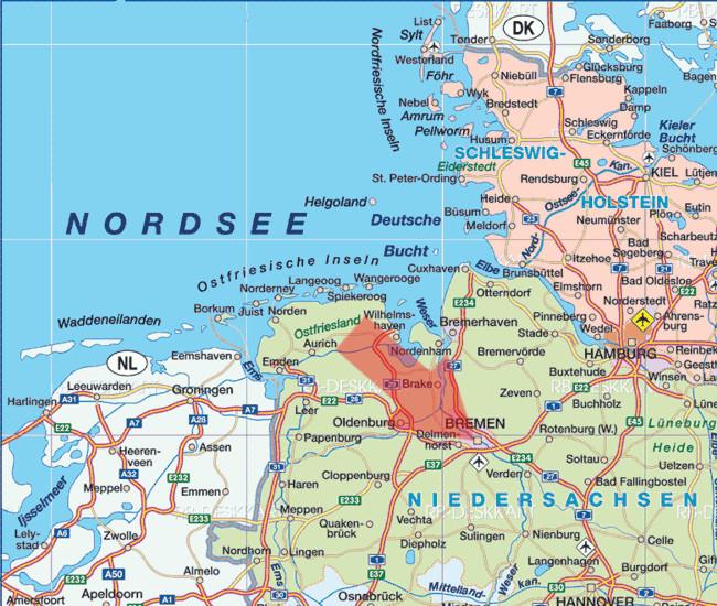 Deutschlandkarte Blog Bremen Karte Regionen Bild