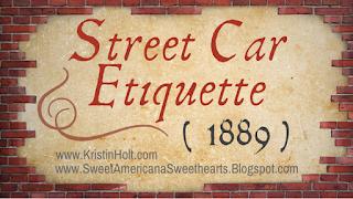 Kristin Holt | Street Car Etiquette, 1889