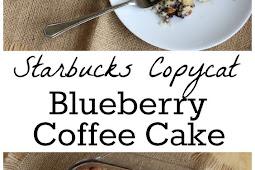 LIGHT BLUEBERRY COFFEE CAKE RECIPE