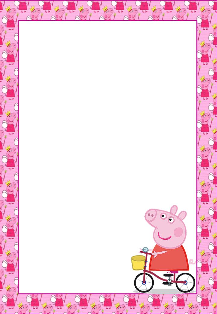 Peppa Pig Free Printable Frames, Invitations or Cards ...