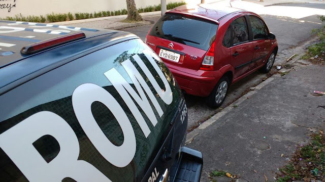 ROMU de Santo André localiza veículo produto de roubo no bairro Campestre
