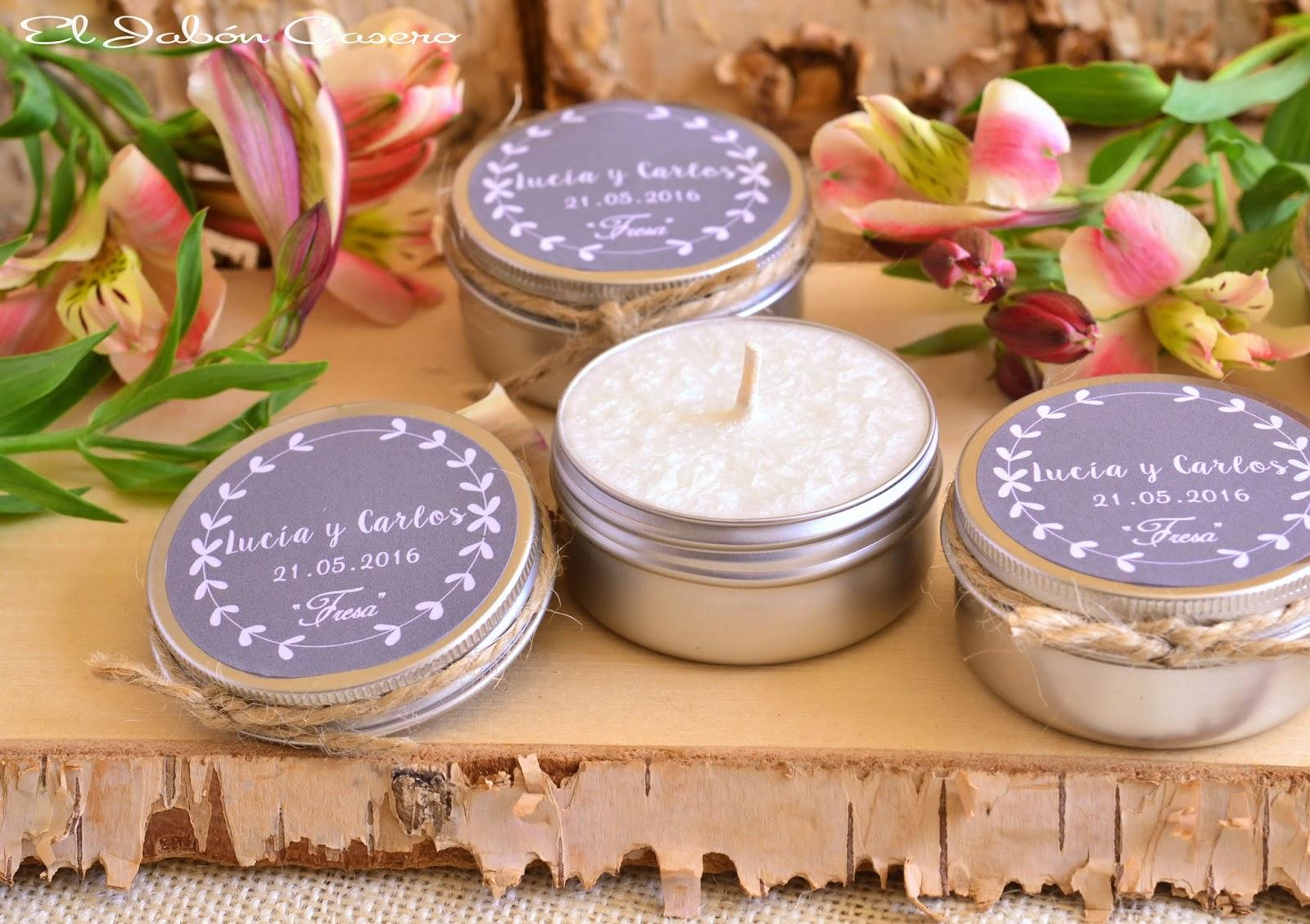 El jab n casero detalles de boda velas arom ticas r sticas - Etiquetas para velas ...