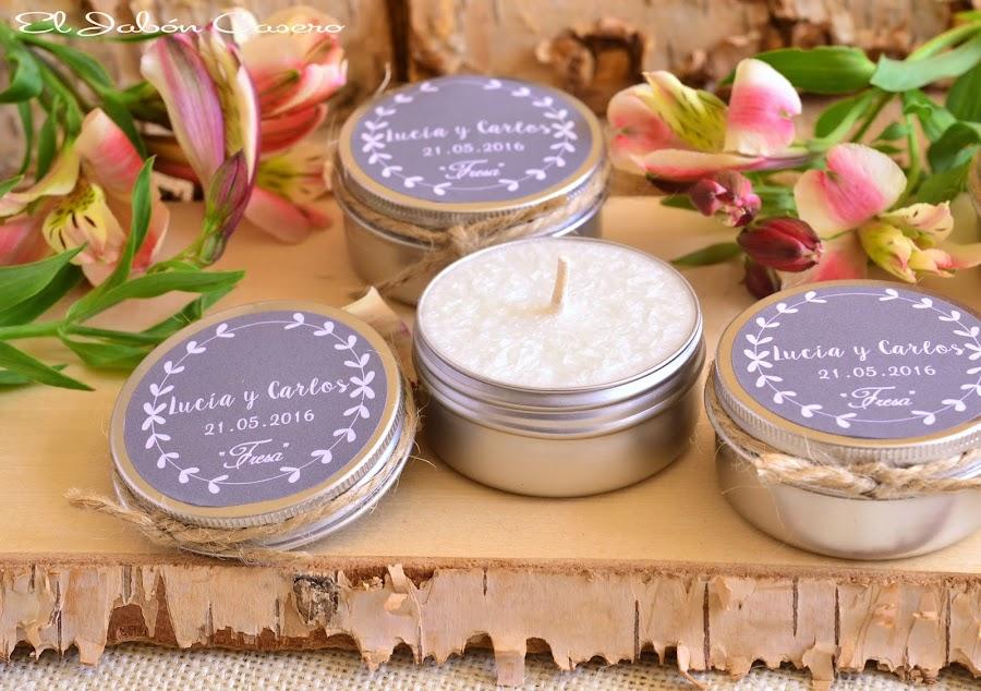 latitas con velas aromaticas detalles de boda