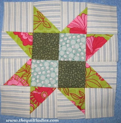 Quilt Ladies 52 Weeks of Quilt Pattern Blocks, Single Star Quilt Pattern