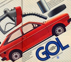 Primeira propaganda do Gol (Volkswagen) em 1980.
