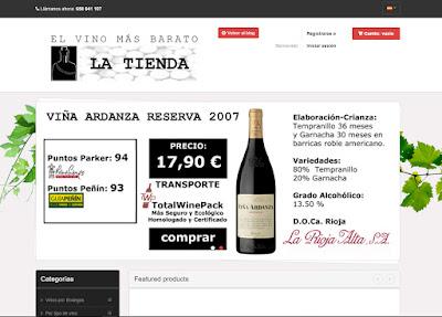 El vino más barato La tienda online de vino