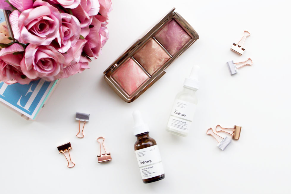 The Ordinary Plant Derived Squalane, The Ordinary Hyaluronic Acid, Hourglass Strobe Lighting Blushes