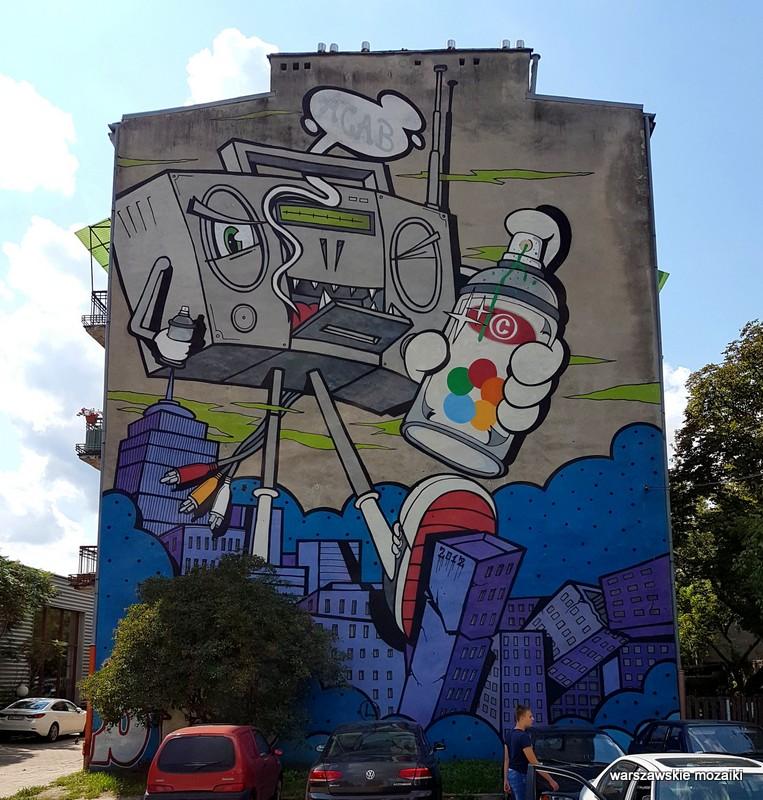Warszawa Warsaw Grochów Karczewska murale warszawskie mural streetart sztuka ulicy