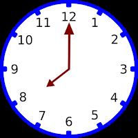 Gambar jam pukul 08.00
