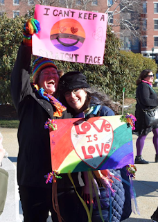 Rainbow signs love is love