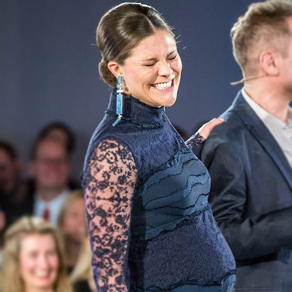 "Crown Princess Victoria of Sweden attended the presentation ceremony of ""Global Change Award"" at the Stockholm City Hall, Sweden. Global Change Award is presented by H&M Conscious Foundation which is a non profit organization financed by Stefan Persson family"