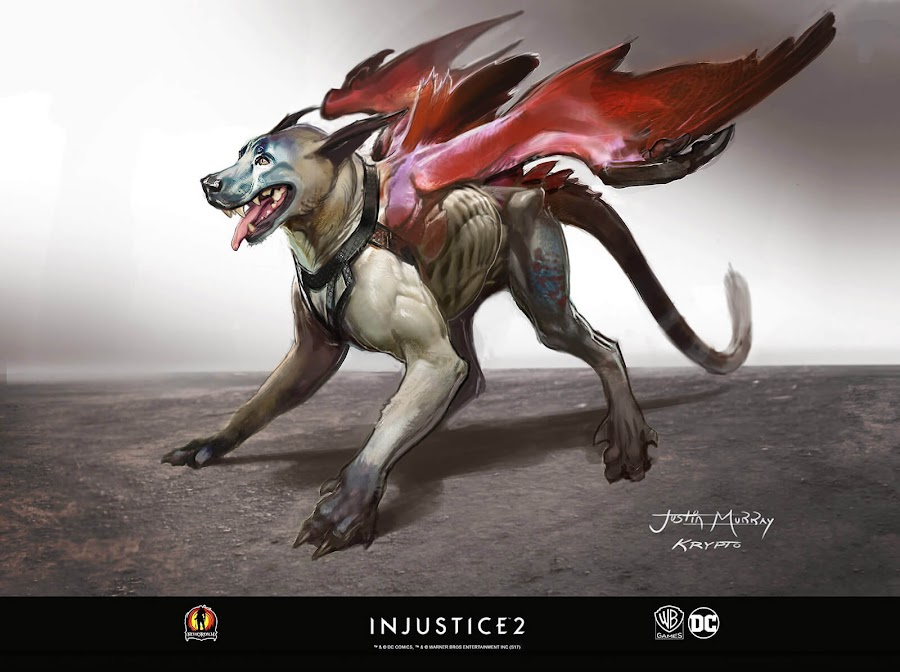 injustice 2 unused concept art krypto the superdog