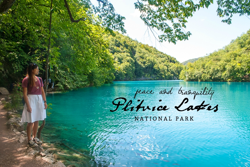 the lakes at Plitvice Lakes National Park