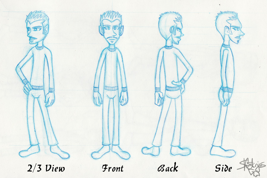 Character Design Final Project 2011- Model Sheet 3 - character model template
