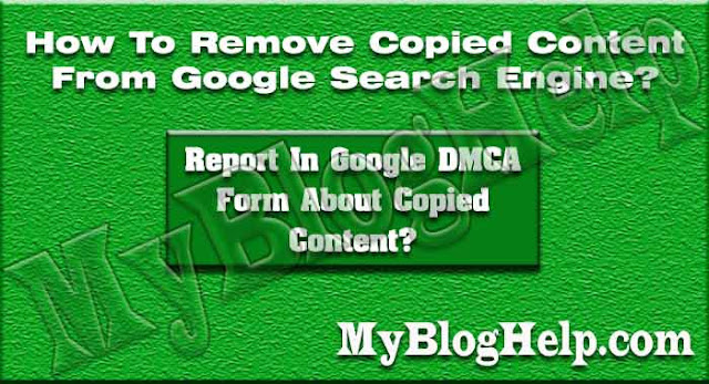 Remove Copied Content From Google Search Engine