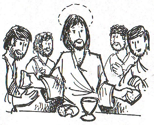 Dibujos De Comunion Para Imprimir Y Colorear: Dibujos Católicos : Jesús Instituye La Eucaristía Para