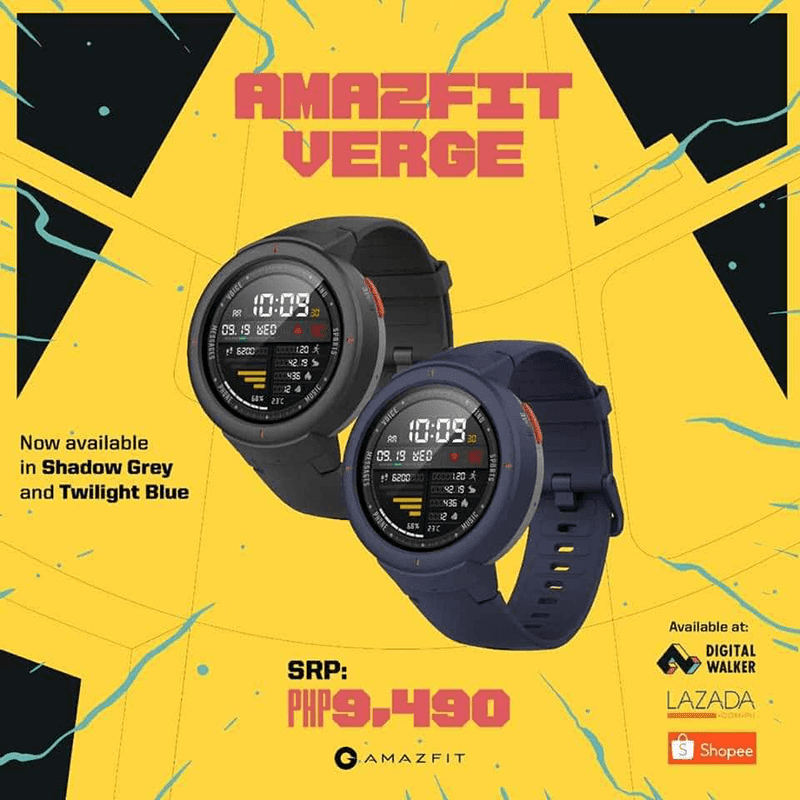 Amazfit Verge arrives in the Philippines at Digital Walker, priced at PHP 9,490