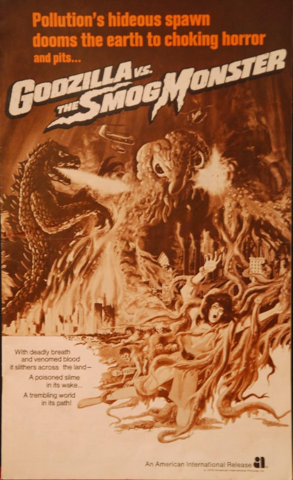 The Sphinx Godzilla Vs The Smog Monster Pressbook 1972