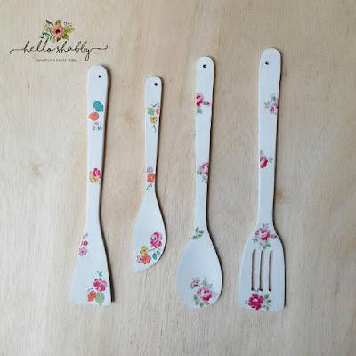 dekorasi dapur : jual spatula shabby chic unik dan cantik