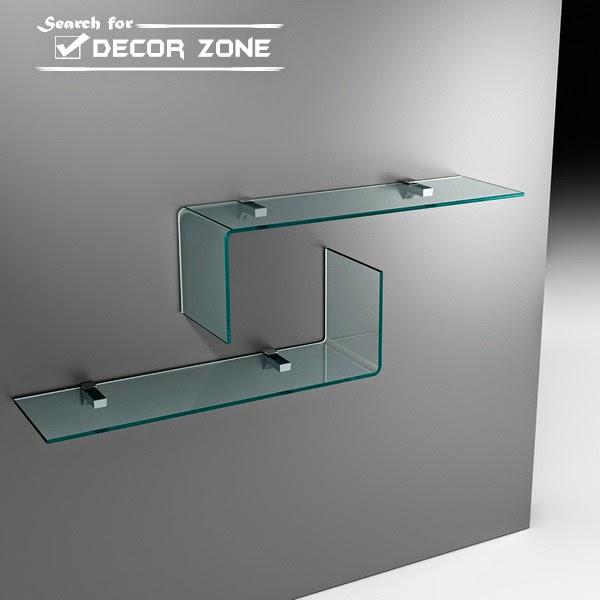 glass shelves ideas and designs
