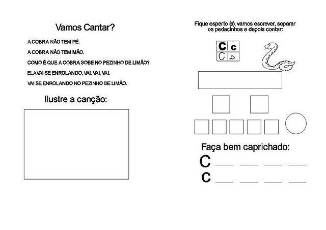 Atividades Com Letra C Prontas Imprimir