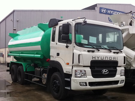 xe chở téc dầu HD260 15 tấn