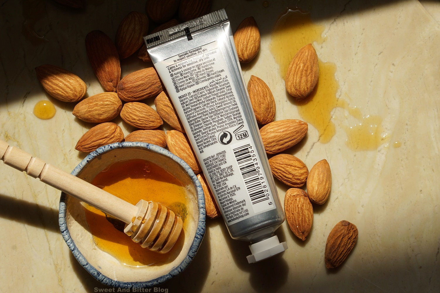 The Body Shop Almond Milk and Honey Calming & Protecting Hand Cream Ingredients Price in India