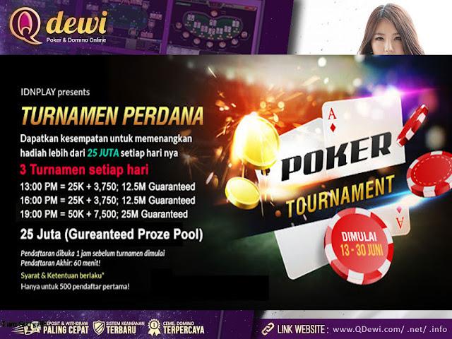 Turnamen Poker Online Indonesia QDewi.net Support By IDNPlay